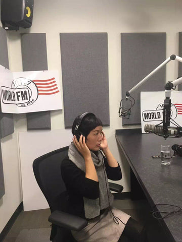 Interviewed by Helen from World FM 101.7 , 2017