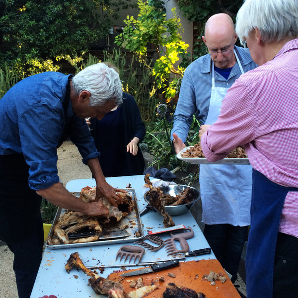 Alice Waters, Michael Pollan, and Samin Nosrat come to the Renaissance Forge to prepare Goat Al Asador and top it off with Omnivore Salt, an organic paleo-friendly seasoning.