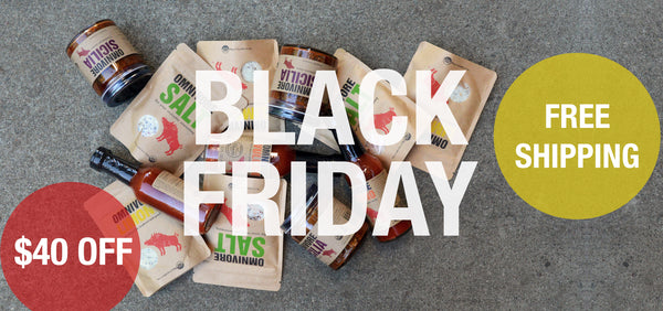 black friday omnivore salt and gourmet condiments
