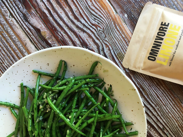 Green beans with Omnivore Limone