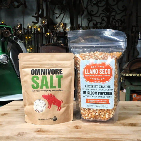omnivore salt and pop corn