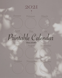 Printable calendar 2021 by AiLLA STUDIO