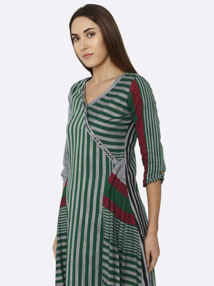 Green Printed Cotton Dress