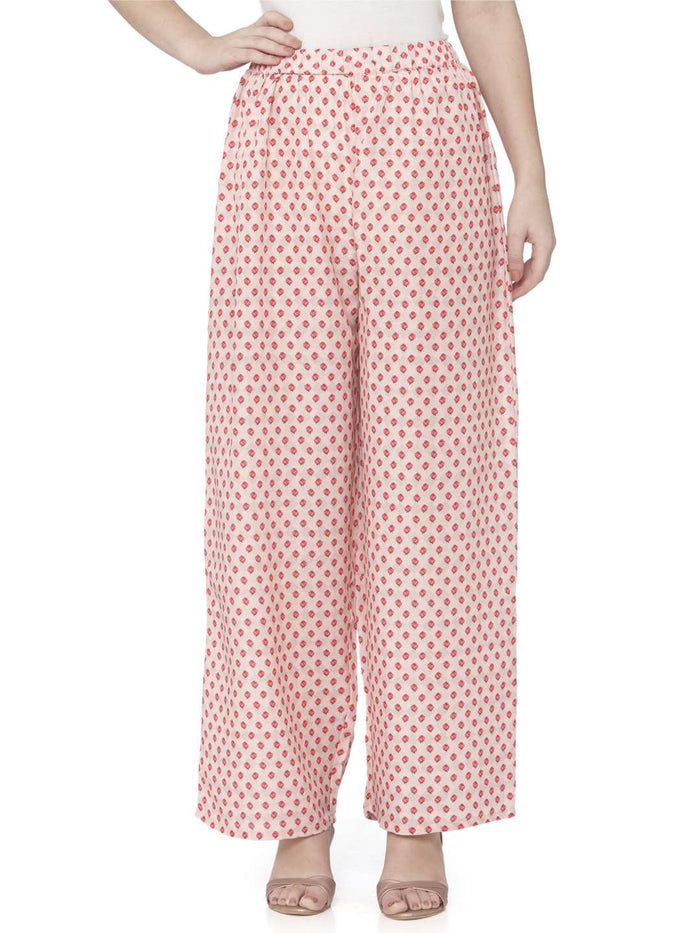 Front Side Red Dot Palazzo Pant
