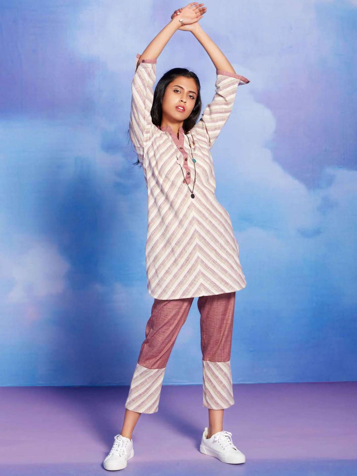 Casual printed polly cotton straight kurta set