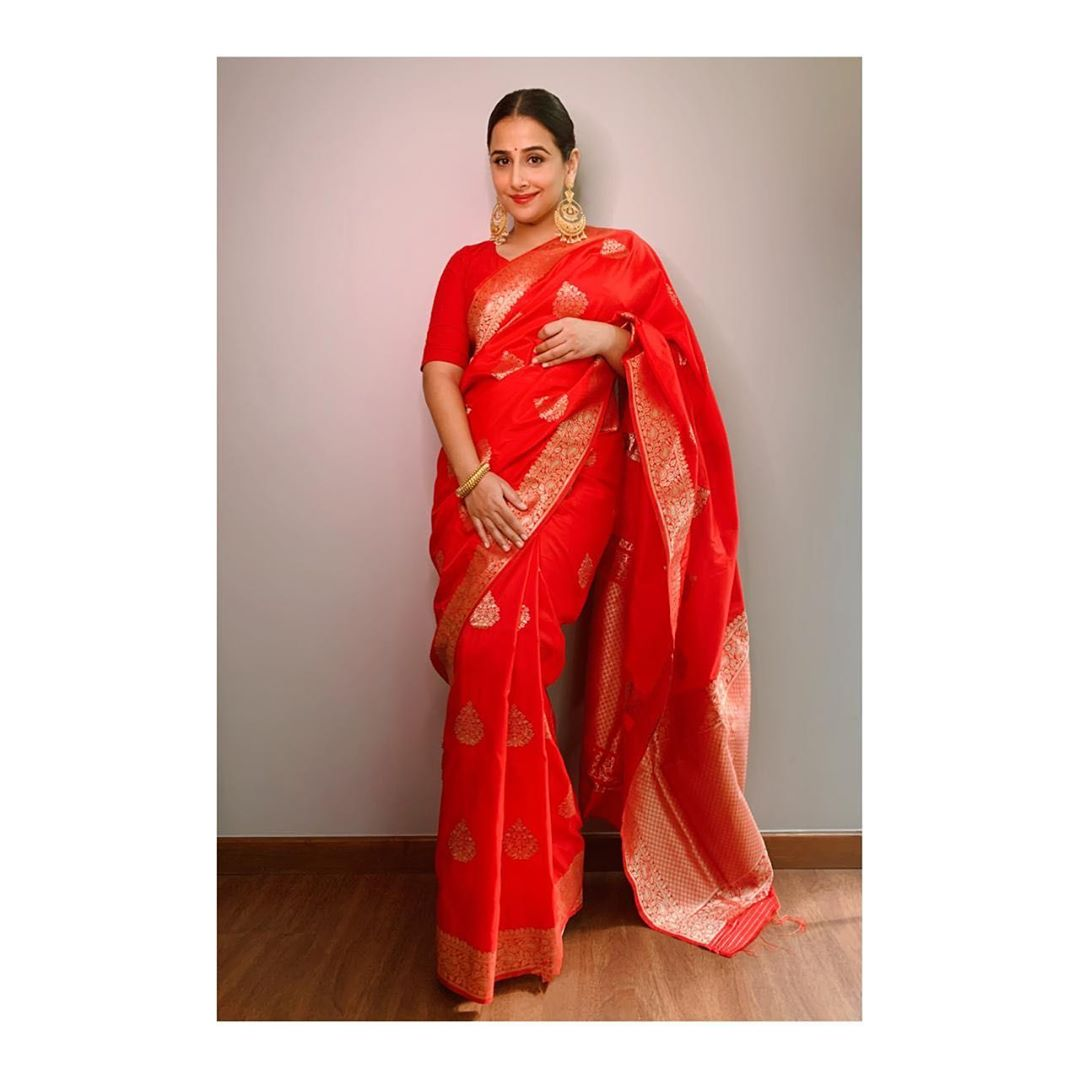 Red Woven Silk Banarasi Saree