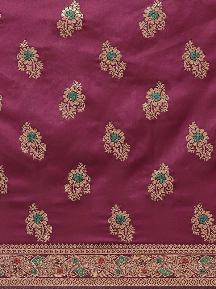 Wine Art Silk Saree