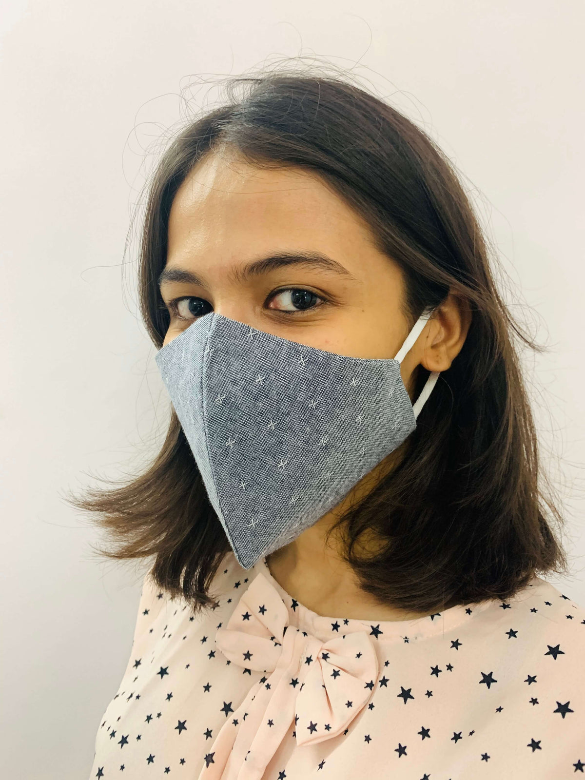 Linen Denim Masks – Double Layered