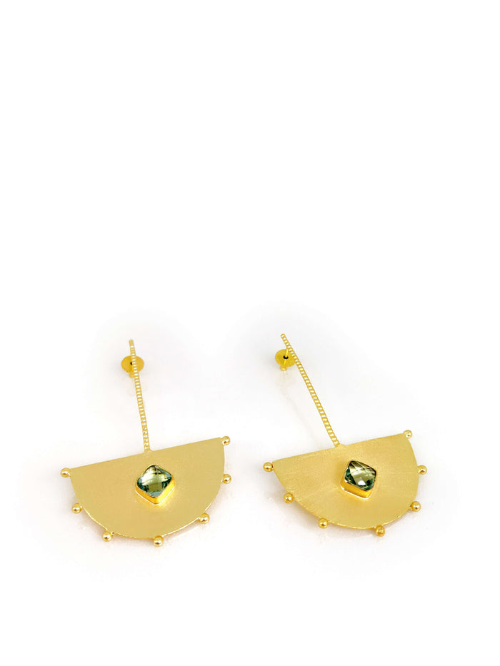 Gold Plated Geomatric Drop Earring