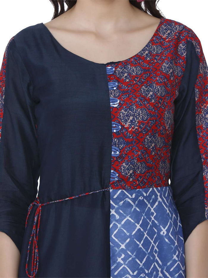 Ranjish Multicolored Muslin & Modal Kurti