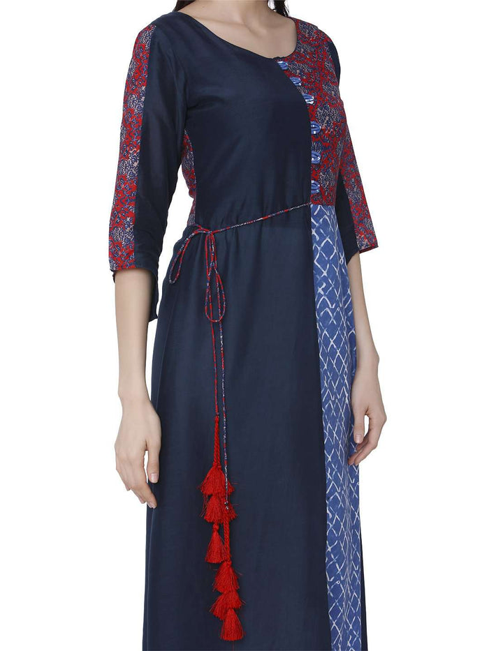 Right Side Ranjish Multicolored Muslin & Modal Kurti