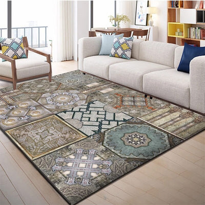 Geometric Carpets For Living Room, Bedroom And Study Also Used As Bedside Carpet Rug