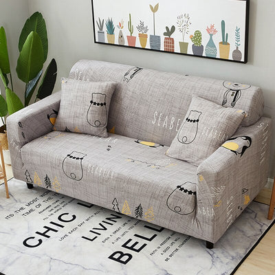 Elastic Loose Fabric 3 Seater Corner Sofa Couch Cover. Anti-Slip And Stretch Modern Sectional Armrest Slipcovers For Furniture