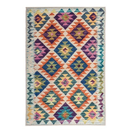 Persian Ethnic Geometric Carpets. Simple Bedroom & Living Room Carpet