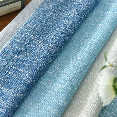 Blue Striped Printed Blackout Curtains For Living Room, Married Room And Study Room For Kids