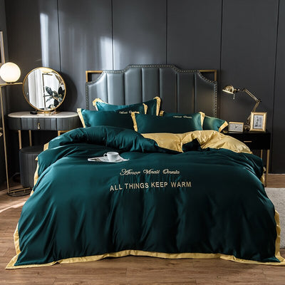 Luxury Pure Satin Silk Bedding Set & Duet Cover