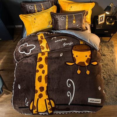 Looxfancy Cute Duvet Cover Bedsets for Kids