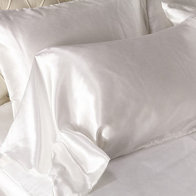 Satin Silk Luxury Beeding Set With Quilt Duvet Cover And Pillowcase