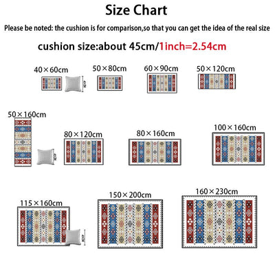 1-Piece Carpet For Living Room Area Rug For Bedroom Large Size Carpets Slipping Resistance