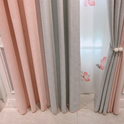 Style Fresh Cotton Linen Modern Window Curtain For Living Room