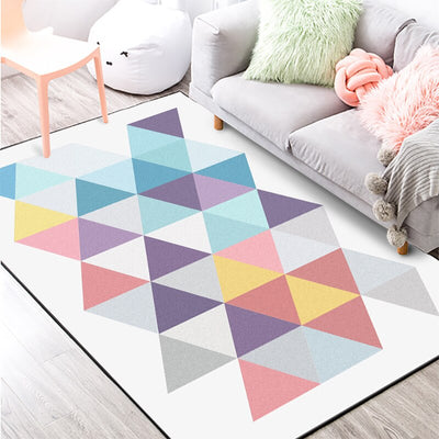 Modern Geometric Macaroon'S Colorful Living Room Rug Carpet Also Used As Doormat Kitchen/Footmat