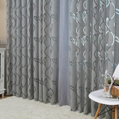 1 Pc Napearl Modern Decorative Grey Window Curtains For Bedroom