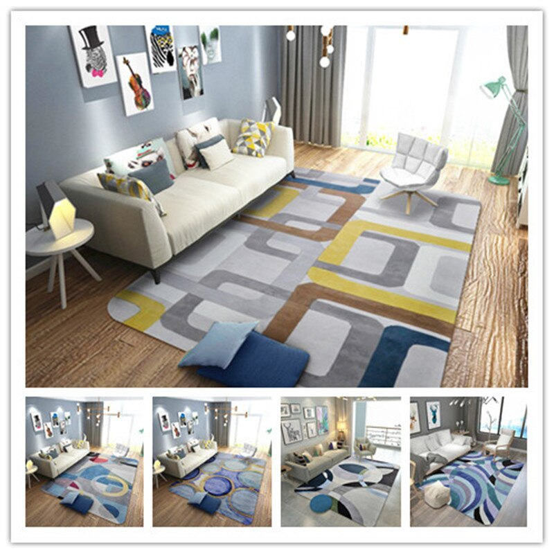 Luxury European Style Carpets For Living Room Also Used As Bedside Coffee Table Floor Mat
