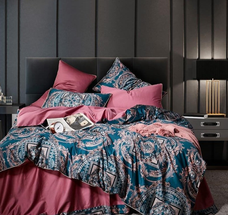 Boho European Bed Linen | European Satin Bedding Set