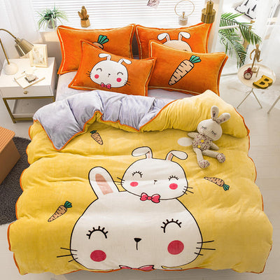 Looxfancy Cute Bedding Duvet Cover for Kids