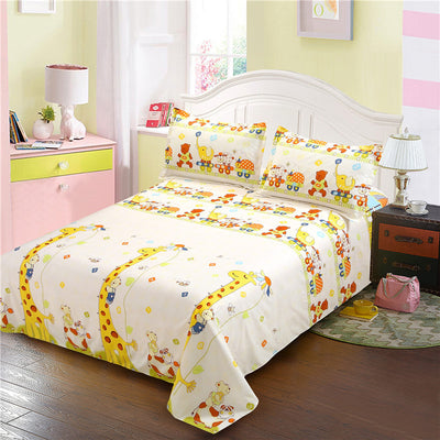 Cotton Striped Printed Flat Sheet For Children And Adults