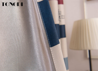 Blackout Curtains Stripe Tower Printing Rainbow Decoration For Children Home Hotel Christmas Sitting Bedroom Livingroom