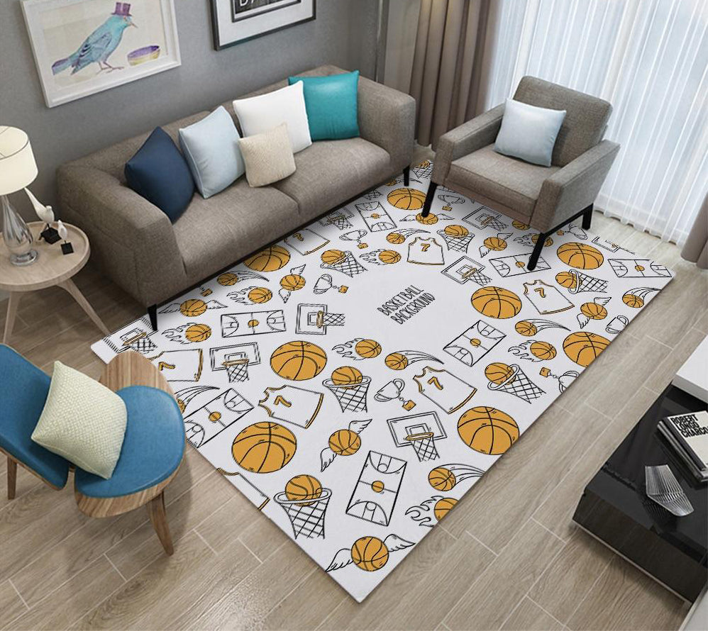 Rectangle, Anti-Slip Flannel Bedside Area Rug/Carpet For Children Play Bed Room