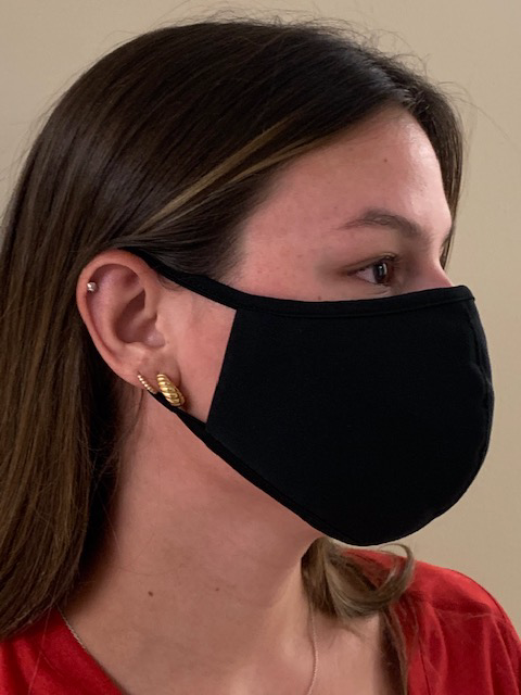 Reusable Cloth Face Mask With Stitched In Ear Loop
