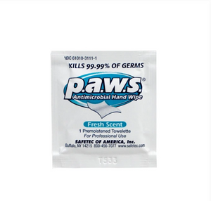P.A.W.S. Antimicrobial Hand Sanitizing Wipes (100pcs/box)