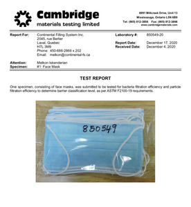 Level 2 Surgical Mask (Canadian Made) (50 per box)