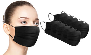 Disposable Face Mask (50 pack) (black)