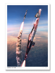 Cosmic Motors™ Limited Edition Prints: Sexy Magrela Take-Off