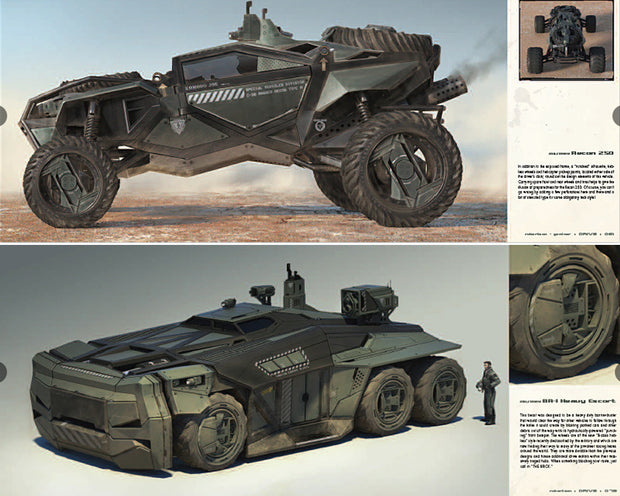 DRIVE: vehicle sketches and renderings