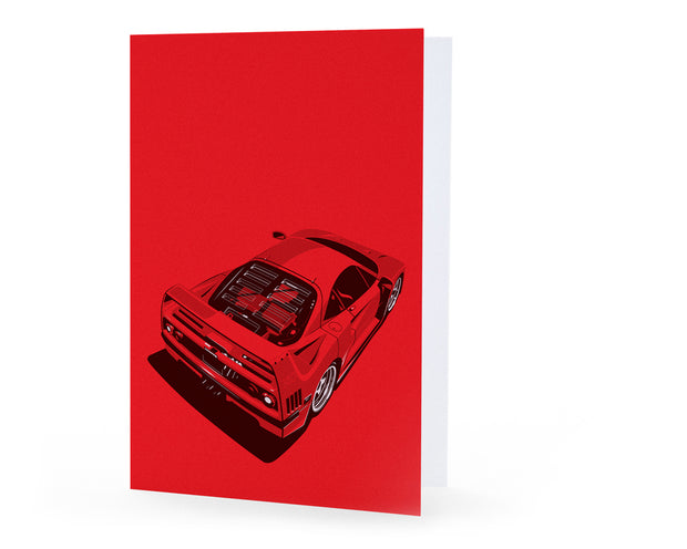 F40 Top Greeting Card