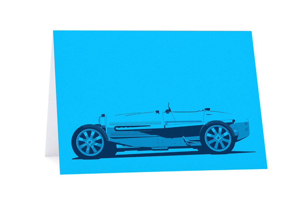 Bugatti Type 35 Greeting Card