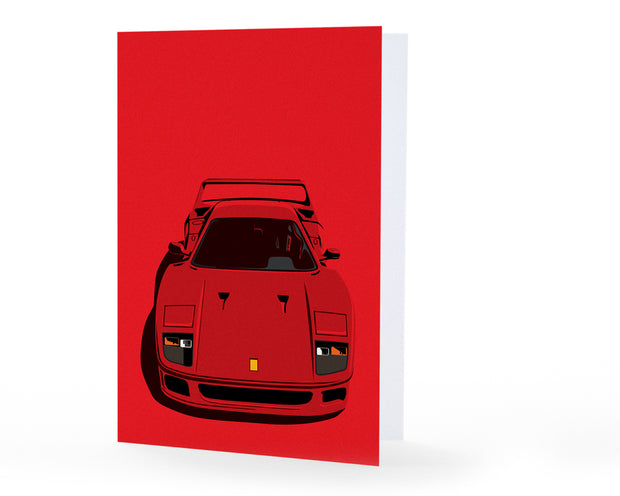 F40 Front Greeting Card