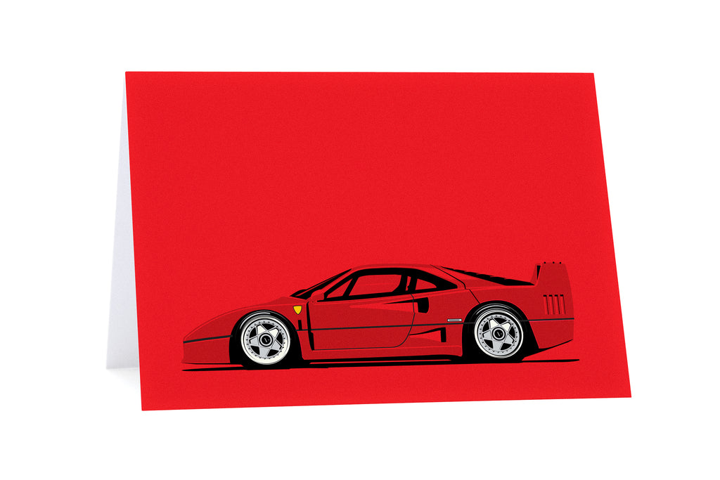 F40 Side Greeting Card