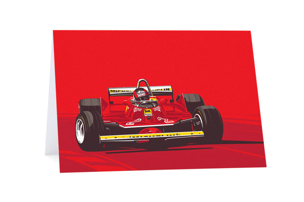 Gilles Villeneuve Greeting Card