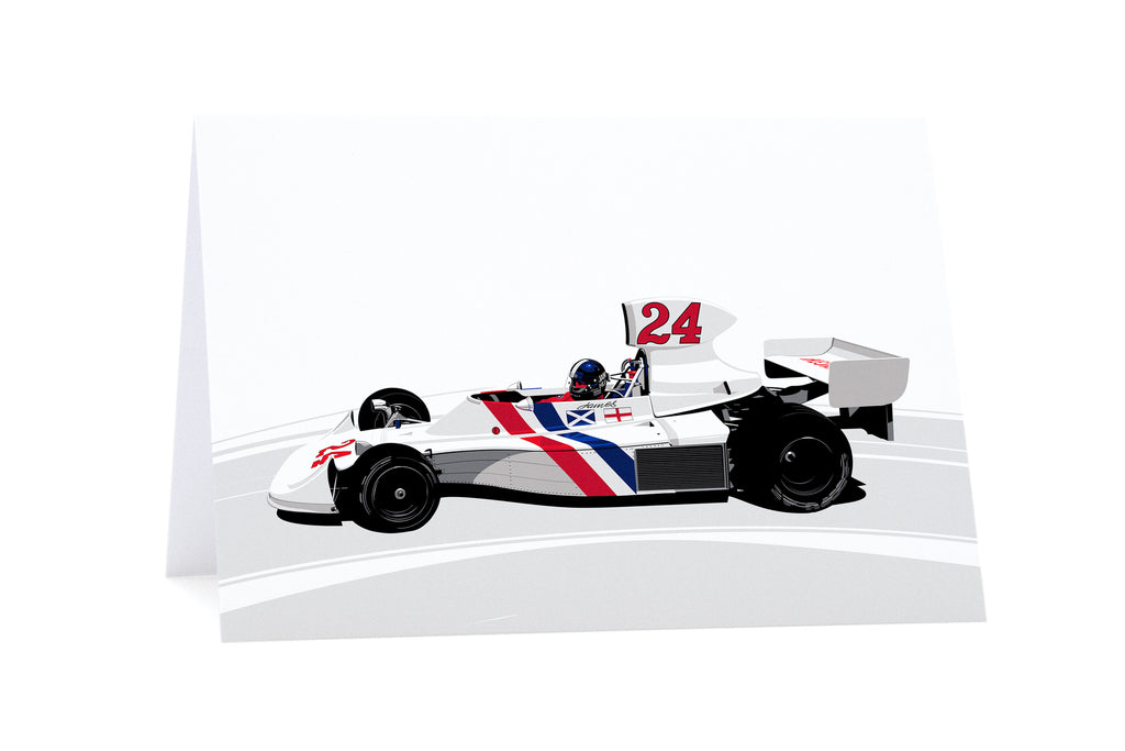 James Hunt / Hesketh Greeting Card