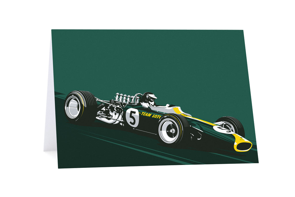 Jim Clark Greeting Card by Curb