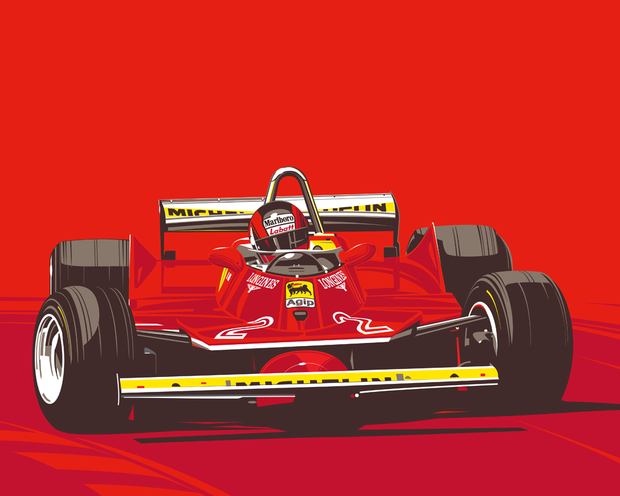 LEGENDS NEVER DIE - #002 GILLES VILLENEUVE