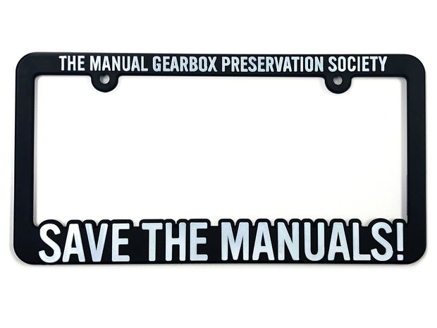 TMGPS SAVE THE MANUALS! License Plate Frame
