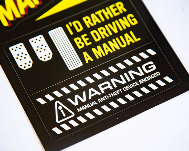 Save The Manuals - TMGPS Sticker Sheet #1