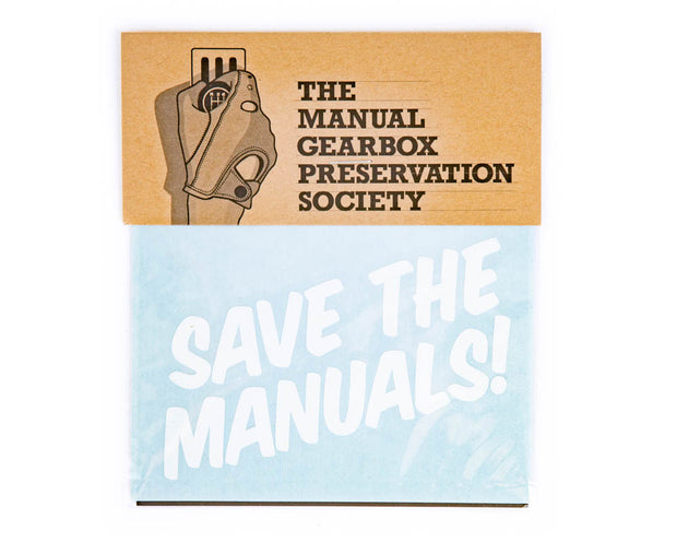 Save The Manuals! Vinyl Cut Decal