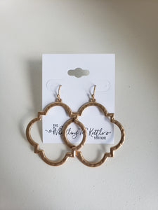 Be Niece To Me Gold Quatrefoil Earrings